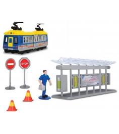 Игровой набор Трамвайная остановка Dickie синий 3315390...