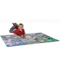 Игровой коврик Dickie с машинкой и дорожными знаками 3745004
