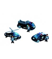 Dickie черный вертолет 2 машинки и фигурки людей 3315405