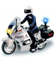 Мотоцикл Dickie белый фрикционный со светом и звуком 3383749