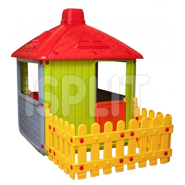 Домик Dolu City House с забором 3011 серый