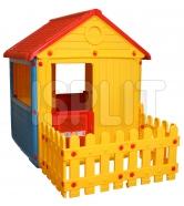 Игровой домик Dolu с ограждением 3013