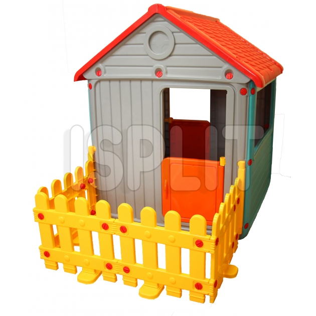Игровой домик Dolu с ограждением DL_3013