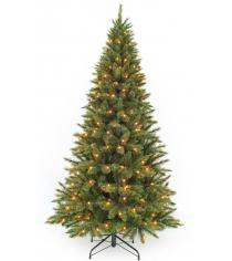 Искусственная елка Triumph Tree Лесная Красавица стройная с огоньками Triumph Tree 260 см зеленая