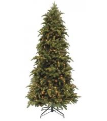 Искусственная елка Triumph Tree Нормандия стройная с огоньками 185 см зеленая