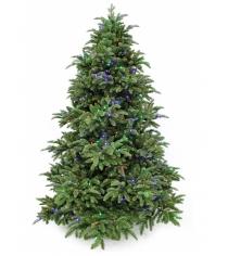 Искусственная елка Triumph Tree Шервуд Премиум с огоньками мультиколор 215 см зеленая