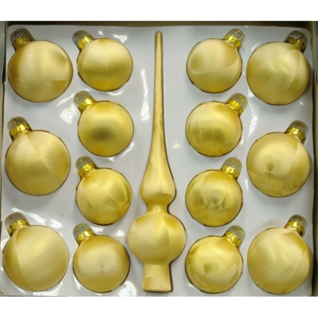 Набор украшений Peneri 14 шаров с верхушкой 28 см из стекла