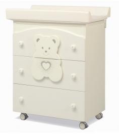 Пеленальный комод с ванночкой Erbesi Tiffany слоновая кость...