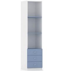 Детский стеллаж с ящиками Фея Белый-синий