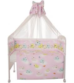 Комплект в кроватку 7 предметов Фея Мишки розовый...