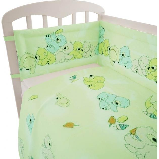 Постельное белье для новорожденных Фея Мишки зеленый