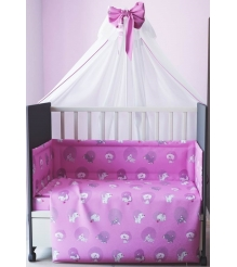 Комплект в кроватку 7 предметов Фея Наши друзья 0001012-1 розовый