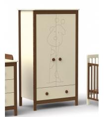 Детский двухстворчатый шкаф Fiorellino Giraffe Ivory/Oreh