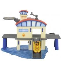 Dickie Toys Пожарный Сэм Морская станция с лодкой 3099616