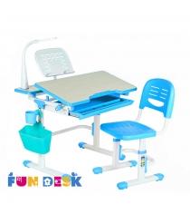 Комплект парта и стул FunDesk Lavoro белый голубой