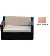 Диван двухместный с 3 подушками GARDA-1007 R бежевый