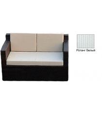 Диван двухместный с 3 подушками GARDA-1007 R белый
