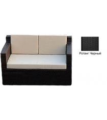 Диван двухместный с 3 подушками GARDA-1007 R черный
