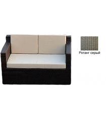 Диван двухместный с 3 подушками GARDA-1007 R серый