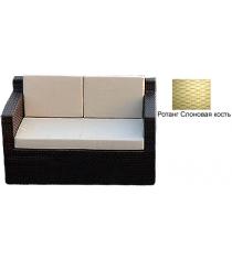 Диван двухместный с 3 подушками GARDA-1007 R слоновая кость