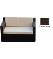 Диван двухместный с 3 подушками GARDA-1007 R венге
