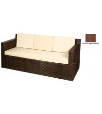 Диван трехместный с 4 подушками GARDA-1007 R коричневый