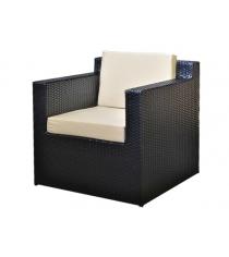Кресло с 2 подушками GARDA-1007 черный
