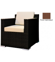 Кресло с 2 подушками GARDA-1007 R коричневый