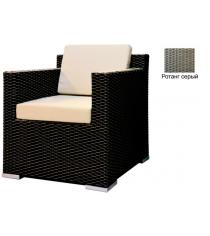 Кресло с 2 подушками GARDA-1007 R серый