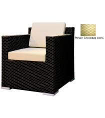 Кресло с 2 подушками GARDA-1007 R слоновая кость