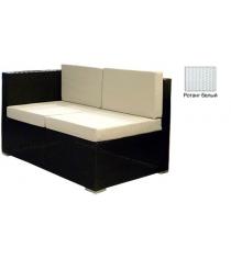 Угловой двухместный модуль с 4 подушками GARDA-1007 R белый
