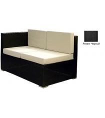 Угловой двухместный модуль с 4 подушками GARDA-1007 R черный