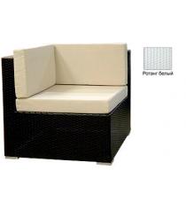 Угловой одноместный модуль с 3 подушками GARDA-1007 R белый