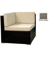 Угловой одноместный модуль с 3 подушками GARDA-1007 R серый