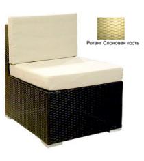 Промежуточный модуль с 2 подушками GARDA-1007 R слоновая кость