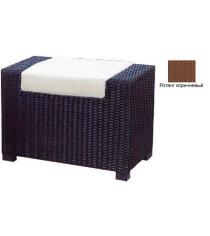 Пуф с 1 подушкой GARDA-1007 R коричневый