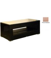 Большой журнальный стол со стеклом GARDA-1007 R бежевый