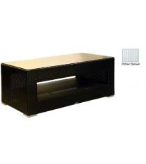 Большой журнальный стол со стеклом GARDA-1007 R белый