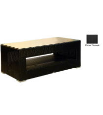 Большой журнальный стол со стеклом GARDA-1007 R черный
