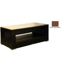 Большой журнальный стол со стеклом GARDA-1007 R коричневый