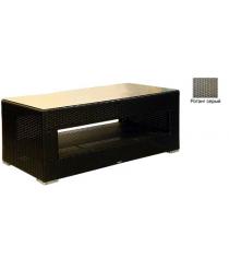 Большой журнальный стол со стеклом GARDA-1007 R серый