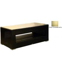 Большой журнальный стол со стеклом GARDA-1007 R слоновая кость