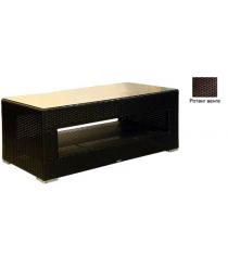 Большой журнальный стол со стеклом GARDA-1007 R венге