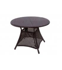 Стол обеденный с плетеной столешней GARDA-1015 коричневый