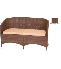 Диван двухместный с подушкой GARDA-1022 R коричневый