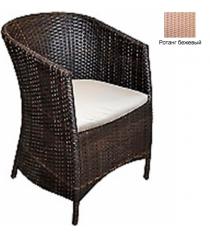 Кресло с подушкой GARDA-1022 R бежевый