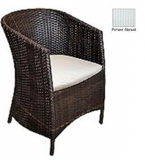 Кресло с подушкой GARDA-1022 R белый