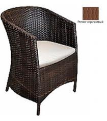 Кресло с подушкой GARDA-1022 R коричневый