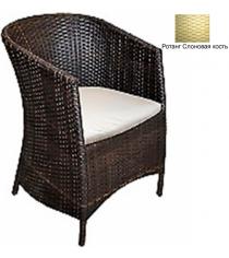 Кресло с подушкой GARDA-1022 R слоновая кость