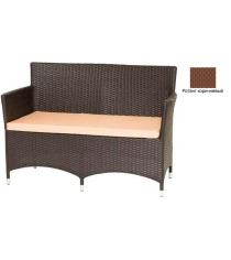 Диван двухместный с подушкой GARDA-1033 R коричневый